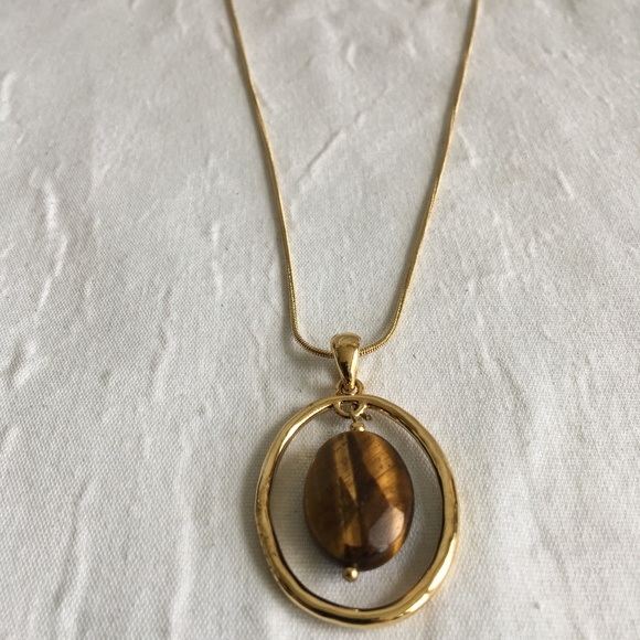 Lia Sophia Jewelry - Vintage Lia Sophia Tigers Eye Necklace
